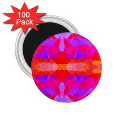Purple, Pink And Orange Tie Dye  By Celeste Khoncepts Com 2.25  Button Magnet (100 pack) by Khoncepts