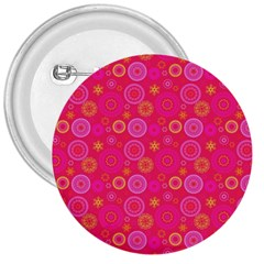 Psychedelic Kaleidoscope 3  Button by StuffOrSomething