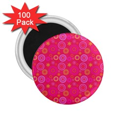 Psychedelic Kaleidoscope 2 25  Button Magnet (100 Pack) by StuffOrSomething