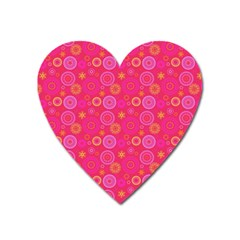 Psychedelic Kaleidoscope Magnet (heart) by StuffOrSomething