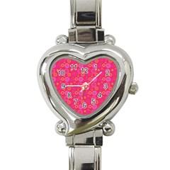 Psychedelic Kaleidoscope Heart Italian Charm Watch  by StuffOrSomething