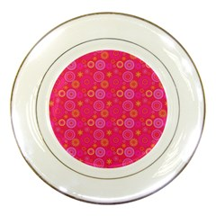 Psychedelic Kaleidoscope Porcelain Display Plate by StuffOrSomething