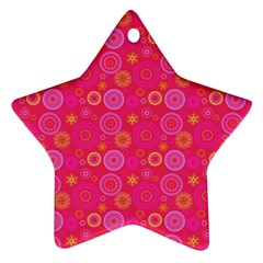 Psychedelic Kaleidoscope Star Ornament (two Sides) by StuffOrSomething