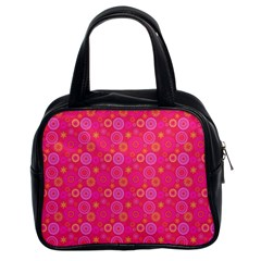 Psychedelic Kaleidoscope Classic Handbag (two Sides) by StuffOrSomething