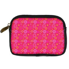 Psychedelic Kaleidoscope Digital Camera Leather Case by StuffOrSomething