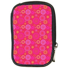 Psychedelic Kaleidoscope Compact Camera Leather Case by StuffOrSomething