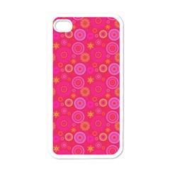 Psychedelic Kaleidoscope Apple Iphone 4 Case (white) by StuffOrSomething