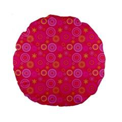 Psychedelic Kaleidoscope 15  Premium Round Cushion  by StuffOrSomething