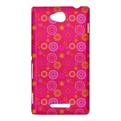 Psychedelic Kaleidoscope Sony Xperia C (S39H) Hardshell Case by StuffOrSomething