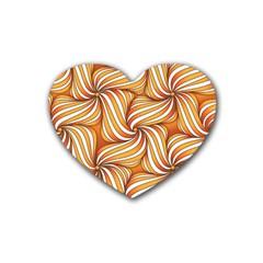 Sunny Organic Pinwheel Drink Coasters (heart) by Zandiepants