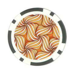 Sunny Organic Pinwheel Poker Chip by Zandiepants