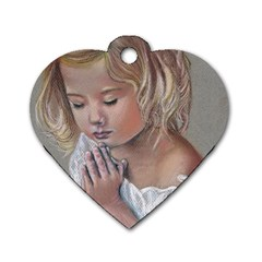 Prayinggirl Dog Tag Heart (one Sided)  by TonyaButcher