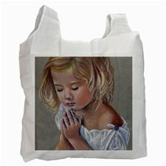 Prayinggirl White Reusable Bag (two Sides) by TonyaButcher