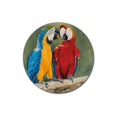 Feathered Friends Magnet 3  (round) by TonyaButcher