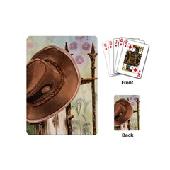 Hat On The Fence Playing Cards (mini) by TonyaButcher