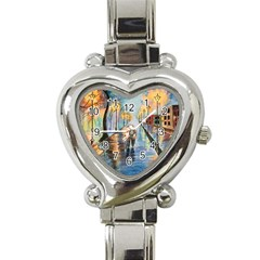 Just The Two Of Us Heart Italian Charm Watch  by TonyaButcher