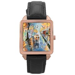 Just The Two Of Us Rose Gold Leather Watch  by TonyaButcher