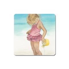 Beach Play Sm Magnet (square) by TonyaButcher