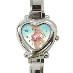 Beach Play Sm Heart Italian Charm Watch  by TonyaButcher