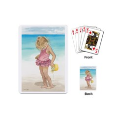 Beach Play Sm Playing Cards (mini) by TonyaButcher