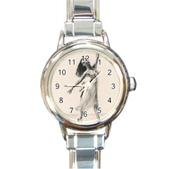 Perfect Grace Round Italian Charm Watch by TonyaButcher