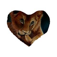 Playful  16  Premium Heart Shape Cushion  by TonyaButcher