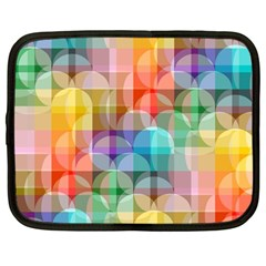 circles Netbook Sleeve (Large) by Lalita