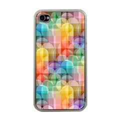 Circles Apple Iphone 4 Case (clear) by Lalita