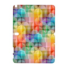 Circles Samsung Galaxy Note 10 1 (p600) Hardshell Case by Lalita