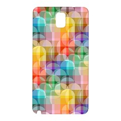 Circles Samsung Galaxy Note 3 N9005 Hardshell Back Case by Lalita