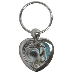 Barred Owl Key Chain (heart) by TonyaButcher