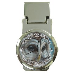 Barred Owl Money Clip With Watch by TonyaButcher
