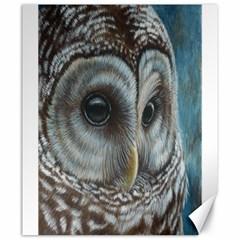 Barred Owl Canvas 20  X 24  (unframed) by TonyaButcher