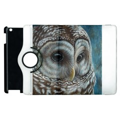 Barred Owl Apple Ipad 3/4 Flip 360 Case by TonyaButcher