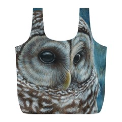 Barred Owl Reusable Bag (l) by TonyaButcher