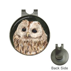 Tawny Owl Hat Clip With Golf Ball Marker by TonyaButcher