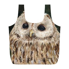 Tawny Owl Reusable Bag (l) by TonyaButcher