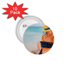 A Day At The Beach 1 75  Button (10 Pack) by TonyaButcher