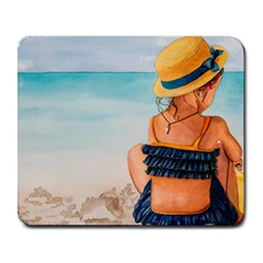 A Day At The Beach Large Mouse Pad (rectangle)