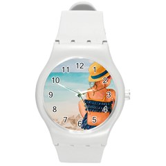 A Day At The Beach Plastic Sport Watch (medium)