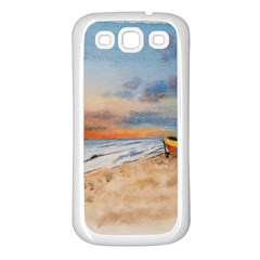Sunset Beach Watercolor Samsung Galaxy S3 Back Case (white) by TonyaButcher