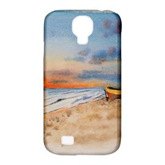 Sunset Beach Watercolor Samsung Galaxy S4 Classic Hardshell Case (pc+silicone) by TonyaButcher
