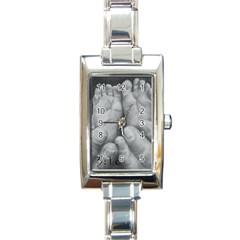 John 3:16 Rectangular Italian Charm Watch by TonyaButcher