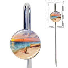 Alone On Sunset Beach Bookmark by TonyaButcher