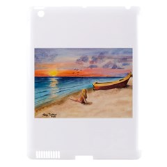 Alone On Sunset Beach Apple Ipad 3/4 Hardshell Case (compatible With Smart Cover) by TonyaButcher