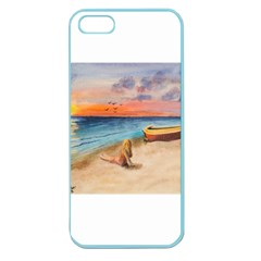 Alone On Sunset Beach Apple Seamless Iphone 5 Case (color) by TonyaButcher