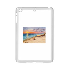 Alone On Sunset Beach Apple Ipad Mini 2 Case (white) by TonyaButcher