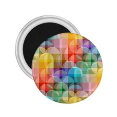 Circles 2 25  Button Magnet by Lalita