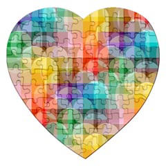 Circles Jigsaw Puzzle (heart) by Lalita