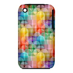 Circles Apple Iphone 3g/3gs Hardshell Case (pc+silicone) by Lalita